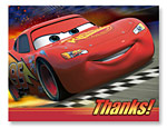 Disney Cars Thank You Notes