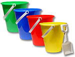 Pails with Shovel