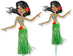 Hula Girl Balloon Lawn Sign