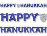 Hanukkah Foil Letter Banner
