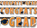 Orange Graduation Giant Letter Banner