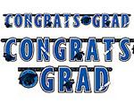 Blue Graduation Giant Letter Banner