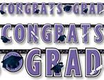 Purple Graduation Giant Letter Banner