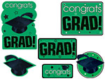Green Graduation Cutouts Value Pack