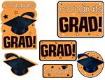 Orange Graduation Cutouts Value Pack