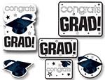White Graduation Cutouts Value Pack