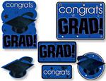 Blue Graduation Cutouts Value Pack