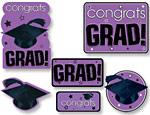 Purple Graduation Cutouts Value Pack
