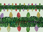 12' Holiday Lights Garland