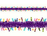 15' Disco Tinsel Garland