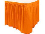 Orange Plastic Table Skirt