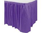 Purple Plastic Table Skirt