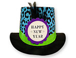 Colorful Leopard Print Top Hat