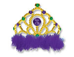Mardi Gras Feather Tiara