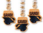 Orange Graduation Cutout Danglers