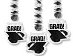 White Graduation Cutout Danglers