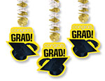Yellow Graduation Cutout Danglers
