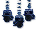 Blue Graduation Cutout Danglers