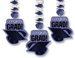 Purple Graduation Cutout Danglers
