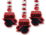 Red Graduation Cutout Danglers
