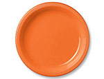 7 inch Orange Plastic Plates