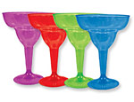 Jewel Tone Margarita Glasses