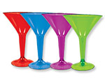 Jewel Tone Martini Glasses