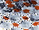 Orange Graduation Confetti Mix 2.5oz.
