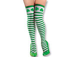 St. Patrick's Day Striped Thigh-Highs