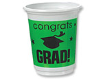 Green Graduation 12oz. Plastic Cups
