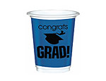 Blue Graduation 12oz. Plastic Cups