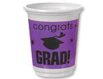 Purple Graduation 12oz. Plastic Cups