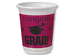 Berry Graduation 12oz. Plastic Cups