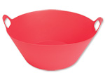 Red Plastic Party Tub