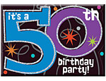 The Party Continues 50 Invitations Pkg/8