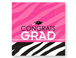 Zebra Graduation Lunch Napkins