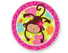 Monkey Love 9 inch Paper Plates