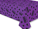 Purple Graduation Plastic Tablecover