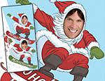 Snowboard Santa Photo Banner
