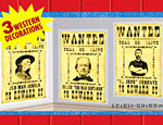 5' Western Wanted Posters