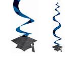 Blue Graduation Swirl Danglers