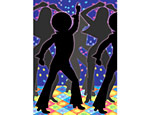 Disco Dancers 40' x 4' Room Roll