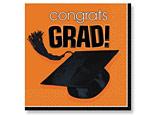 Orange Graduation Beverage Napkins