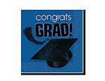 Blue Graduation Beverage Napkins
