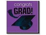 Purple Graduation Beverage Napkins