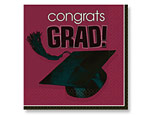 Berry Graduation Beverage Napkins