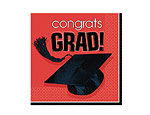 Red Graduation Beverage Napkins