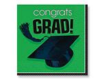 Green Graduation Lunch Napkins