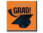 Orange Graduation Lunch Napkin