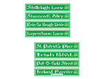 St Patrick's Day Street Sign Cutouts